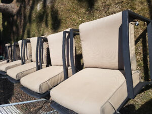Six (6) nice quality patio chairs set