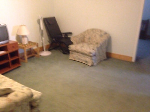 Spacious 1 B Basement Suit, Includes Utilities, Laundry & Net.