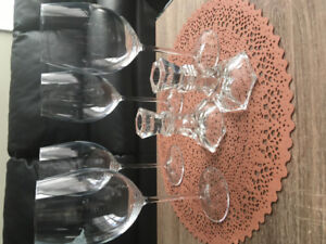 Wine glasses and candle holders
