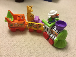 Little People Zoo Train with conductor and animals