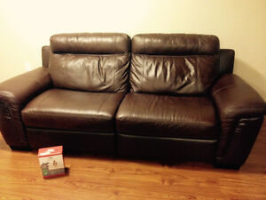 Luxury Genuine Leather reclining couch NEW London Ontario image 9