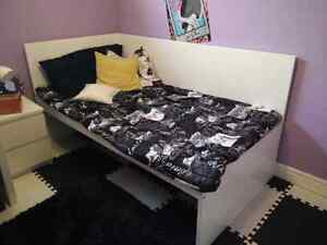 Twin Bed & Night Table