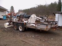 Bale hauler trailer