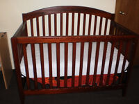 CRIB, wood, well maintained,clean, pet & smoke free