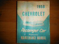 1958-60 Chevrolet Car Manual Bel Air Nomad Biscayne Impala