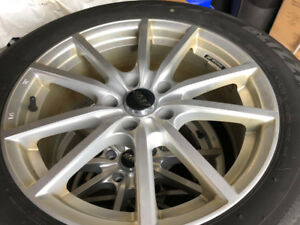 Winter Tires on Alloy Wheels - Blizzak 225/55R17
