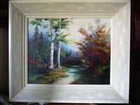 """Original Oil Painting by E. Tyson """"Into The Woods"""" 1976"""
