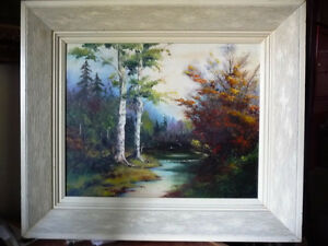 "Original Oil Painting by E. Tyson ""Forest Study"" 1976 Stratford Kitchener Area image 1"