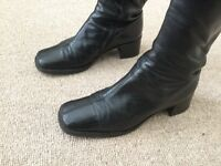 Vintage Russell & Bromley Black Boots (Size 39)