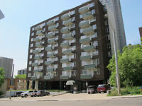 2 Bdrm Suite + Balcony Downtown Highrise ALL UTILITIES INCL