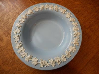 - Wedgwood Embossed Queensware cream on lav smooth edge deep rimmed soup ca. 1942