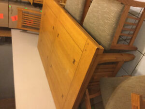 Oak table with six chairs-Courtice