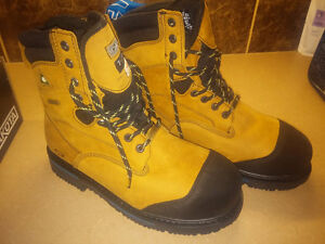 "New Dakota 8"" Quad Comfort Steel Toe Work Boots - never worn"