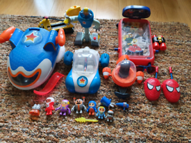 Go jetters playsets bundle jetpad vroomster spiderman toys and games