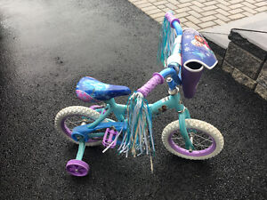 Childs Bike  - Frozen theme finish, in new condition.