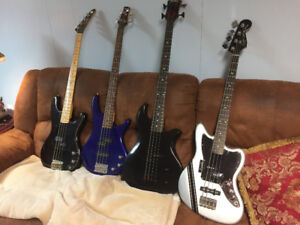 4 great basses for sale,  individually