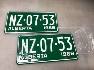 1967 68 71 1972 vintage license plate pairs (new in plastic)
