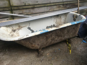 Cast Iron claw foot tub (to be restored)