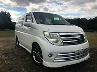 FRESH IMPORT 55 PLATE FACE LIFT NISSAN ELGRAND RIDER S V6 AUTO AUCTION GRADE 4