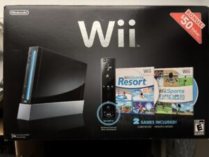 MINT Condition Wii + 2 Sticks + EXTRAS! In BOX!