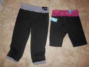 Brand new active wear tops and bottoms (9 items)