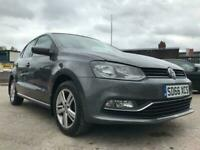 2016 66 VOLKSWAGEN POLO 1.0 MATCH 5D +2 KEYS+AIR CONDITIONING+£20 ROAD TAX+GREY