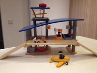 Plantoys wooden airport terminal kids play fun