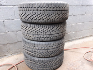 4 winter tires  continental 205/55 R17