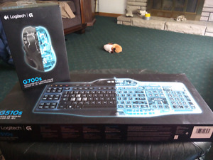 Logitech G510 Gaming Keyboard and G700 Mouse