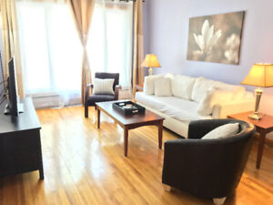 Lovely open spacious 5 1/2 fully furnished home - avail Nov 30