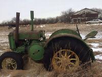 Antique Tractor 1936 John Deere D