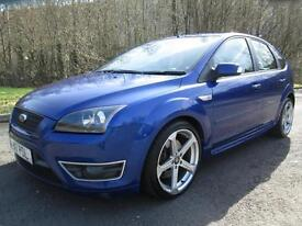 06/56 FORD FOCUS ST-2 2.5 5DR HATCH IN PERFORMANCE BLUE WITH ONLY 79,000 MILES