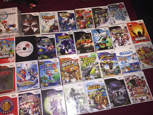 Wii Games - Prices in description of ad