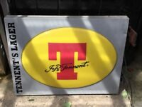 Tennents Outdoor Sign Bar Pub Man Cave Collectibles