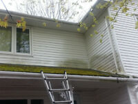 Dirty Siding & Decks Dirty Eaves & Gutters WE POWERWASH CLEAN