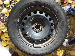 Used winter Goodyear Nordic Tires for sale with steel rims