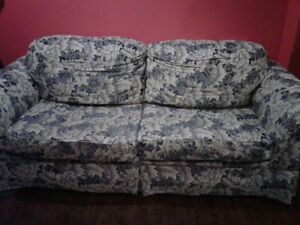 Sklar pepper  blue and grey couch