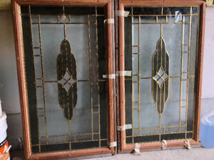 Two Beautiful Decorative Glass Entry Door Inserts