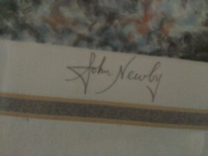 """John Newby autographed and framed print """"A New Season"""" London Ontario image 3"""