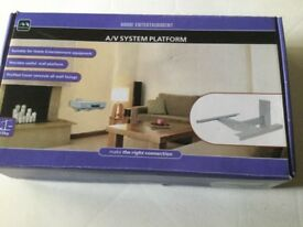 Audio/Visual System Wall Mounting Platform