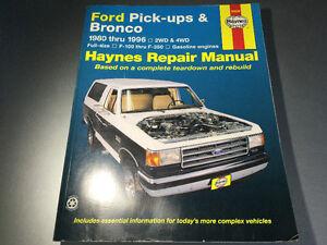 1980-1996 Ford Truck F150 F-250 F-350 Bronco 4x4 2WD Shop Manual