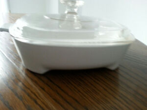 French White Pyrex Covered Casserole
