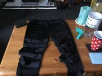 Black stretch leggings size L from Boohoo