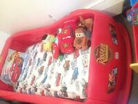 Kids cars bed. Lightning mcqueen.  Real deal.