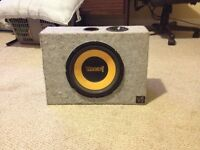 10 inche thump subwoofer in a thump box