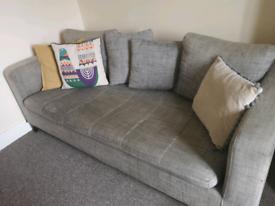 3/4 seater grey Habitat sofa