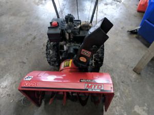 10 hp 28 inch 2 stage mtd snow blower