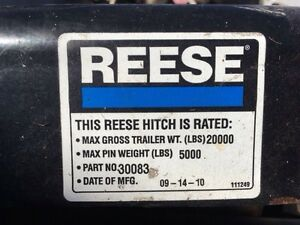 Used Reese 20000 lb 5th Wheel Hitch