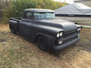 1958 Chevrolet Apache rat rod pickup truck. chopped & dropped !