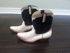 Genuine Snakeskin and Leather Cowboy Boots - Brand New!